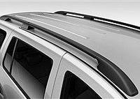 Рейлинги Hyundai Starex, H1, H200 1997-2007 длинный Черный ABS Premium (Крепление на клей)