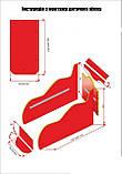 Ліжко машинка ДРАЙВ Тачки Д-0001, фото 4