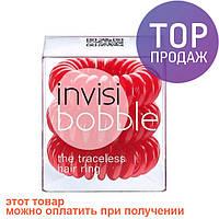 Резинки для волос Invisibobble 3шт красная/аксессуары для волос