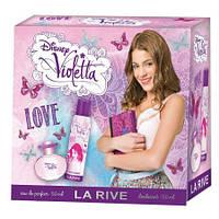 Детский подарочный набор LA RIVE Violetta love (туалетная вода 50мл/дезодорант 150мл)