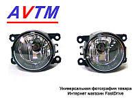 Фары противотуманные Ford Fiesta 2008-2011 ХРОМ ободок (комплект - 2шт) AVTM