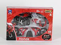 "Мотоцикл метал. New Ray, ""HONDA"", модель-мото, сборной, масштаб 1:12, в кор. 26*18*5см (12шт)(43145)"