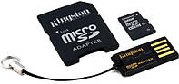 Карта памяти kingston microsdhc 32 Гб class 10 + sd adapter + usb reader (mbly10g2/32gb)