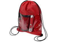 Набор: плед флисовый, кружка с термоизоляцией на 350 мл, фонарик в рюкзаке