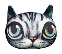 """Антистрессовая игрушка мягконабивная """"SOFT TOYS """"Кіт глазастий"""" серый полосатый, 40*30см(DT-ST-01-04)"""