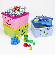Ящик для игрушек Smiley 30*30*18 см BranQ