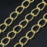 Цепь Железная Твист, Цвет: Золото, Звено: 11x8мм, Толщина 1.4мм, (УТ100007219)