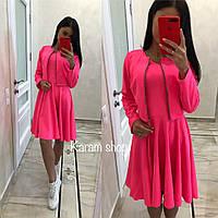 Яркий модный костюм (платье+пиджак)
