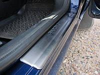 Накладки на пороги Ford Fusion 2002-2009 (4 шт. нерж.) Omsa