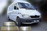 Накладки на пороги Mercedes Sprinter (1998-2006) (нерж.) 3 шт.