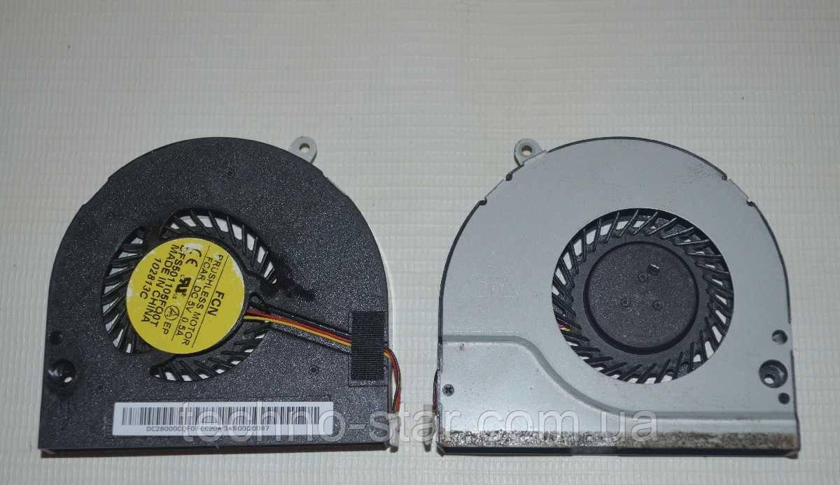 Вентилятор (кулер) FCN DFS501105FQ0T для Acer Aspire E1-532 E1-570G E1-572 E1-572G CPU FAN