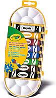 Краски темперные, в тюбике, с кисточкой, 8 цветов,12мл, в пл. уп. 26*10см, ТМ Crayola(7407)