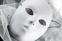 Карнавальная Пластиковая Театральная Маска Безликая Jabbawockeez Лицо без Эмоций Прикол для Вечеринки