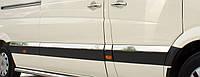 Молдинг дверной Volkswagen Crafter (2012-) (нерж.) 10 шт. (Длинная база)