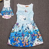 """Летнее платье """"Бабочки, пархающие в небе""""."""