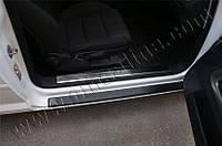 Накладки на пороги внутренние Audi A3 (2004-2012) купе 2 шт. Omsa