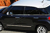 Нижние молдинги стекол Fiat 500L (2013-) (нерж.) 6 шт