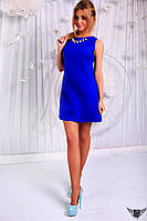 Коротенькое платье с открытыми плечами и подвеской Цвета: