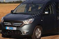 Накладки на решетку радиатора Renault, Dacia Dokker (2012-) (нерж.) 4 шт