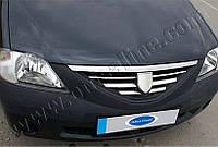 Накладки на решетку радиатора Renault, Dacia Logan (2005-2008) (нерж.) 6 шт