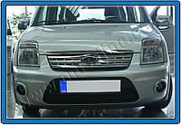Накладкa на решетку радиатора Ford Torneo Connect (2009-) (нерж.) 1 шт