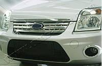 Накладки на решетку радиатора Ford Torneo Connect (2009-) (нерж.) 2 шт