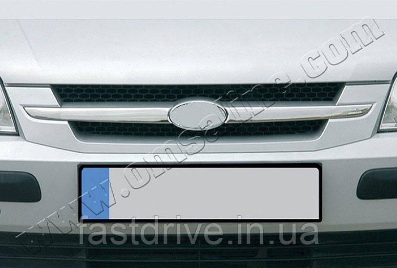 Накладки на решетку радиатора Hyundai Getz 5D (2002-2011) (нерж.) 2 шт