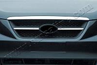 Накладки на решетку радиатора Hyundai Sonata (2004-) (нерж.) 2 шт