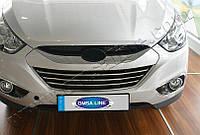 Накладки на решетку радиатора Hyundai ix-35 (2010-) (нерж.) 3 шт