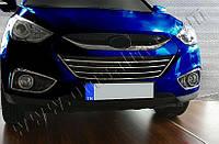 Накладки на решетку радиатора Hyundai ix-35 (2010-) (нерж.) 4 шт