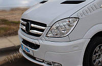 Накладки на решетку радиатора Mercedes Sprinter (2006-2013) (нерж.) Omsa 4 шт