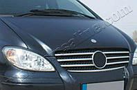 Накладки на решетку радиатора Mercedes Vito W639 (2003-2010) (нерж.) 7 шт