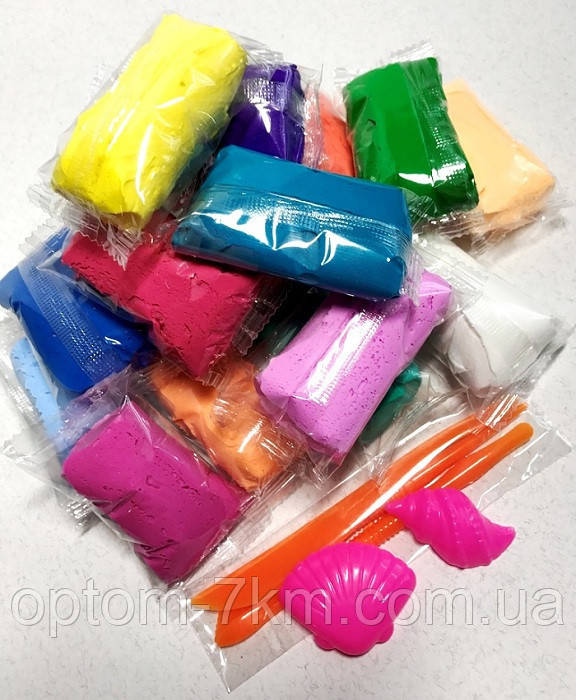Набор Тесто для Лепки Детский Пластилин Super Light Clay Niboshi 5D 14 Цветов