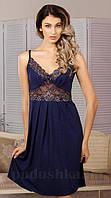 Ночная сорочка Violet delux НС-М-28 синяя S