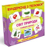 "Подарочный н-р №2 ""Світ природи"", ламинированые, (фрукти, овочі, ягоди, квіти, дерева, природа) УКР(479311)"