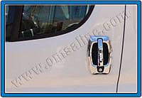 Накладки на ручки и обводка Citroen Jumper (2007-2014) Abs хром. 8шт. Omsa