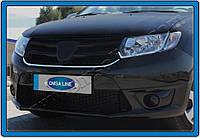 Накладка на решетку радиатора Renault, Dacia Logan MCV (2014-) (нерж.) 1 шт