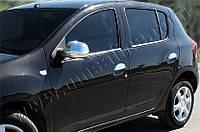 Накладки на ручки Renault, Dacia Sandero 2013- 4 шт., нерж. Omsa