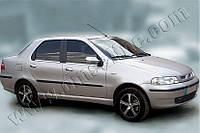 Накладки на ручки Fiat Albea (2002+) 4 шт, нерж. Omsa