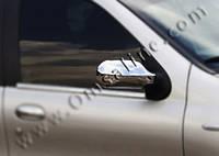 Накладки на зеркала Fiat Albea 2012- (Abs-хром.) 2 шт.