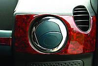 Окантовка на вентиляционные створки Fiat Doblo 2006-2010 (нерж.) 4 шт.