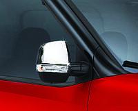 Накладки на зеркала Fiat Doblo 2010-2015 (2 шт., ABS-хром) Omsa