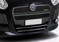 Накладка на нижнюю решетку Fiat Doblo 2010- 2 шт. нерж. Omsa