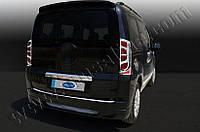 Накладка над номером на багажник Fiat Fiorino, Qubo 2008- (нерж.) 1-дверн.
