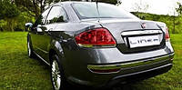 Накладки на задний бампер Fiat Linea 2012- нерж. 3шт Omsa