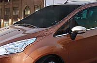 Накладки на зеркала Ford B-Max (2012+) ABS-хром 2 шт.