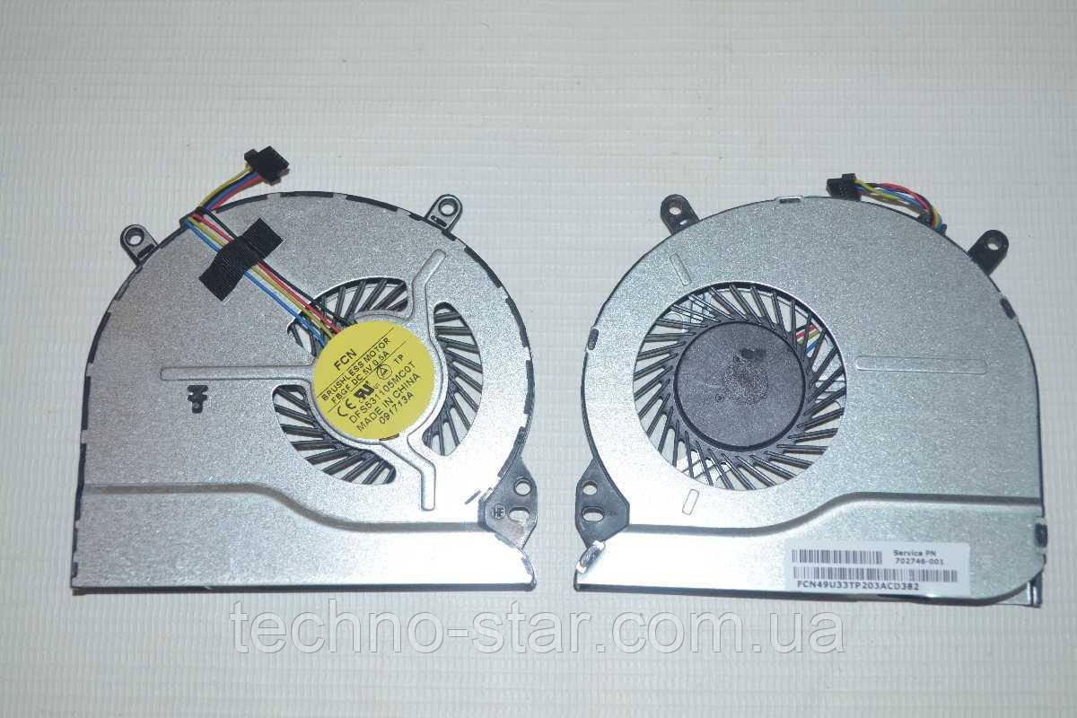 Вентилятор (кулер) FCN DFS531105MC0T для HP TPN-Q113 TPN-Q114 TPN-Q115 TPN-Q116 Pavilion B114EL CPU FAN