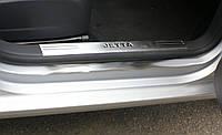 Накладки на пороги внутрение Volkswagen Jetta (2005-2011) (нерж.) 2 шт.