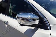 Накладки на зеркала Nissan Qashqai (2014-) (Abs-хром.) 2 шт- Omsa