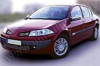 Накладки на зеркала Renault Megane 5D,3D,SD,SW,COUPE (2004-2010) (Abs-хром)- Omsa